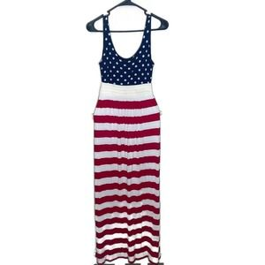 American Maxi Flag Dress by Insider Violet small